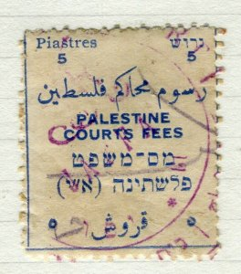 PALESTINE; 1920s early fine used Revenue Document Cancelled value