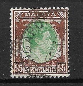 1948 Singapore 20 $5 King George VII use