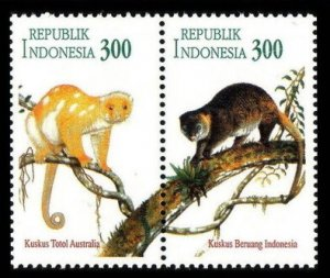 1996 Indonesia 1610-1611Paar Fauna - Monkeys