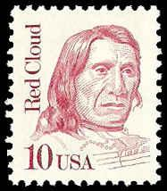 PCBstamps    US #2175a 10c Red Cloud, overall tagged, MNH, (7)