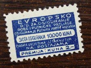 Croatia c1942 Railway Baggage NDH Insurance WWII Tax Revenue Stamp  C2