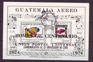 Z712 JLstamps 1974 guatemala s/s mnh #c523 upu