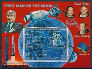 [95839] Yemen YAR 1969 Space Travel Weltraum Apollo 11 Sheet MNH