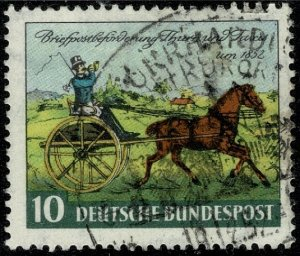 GERMANY 1952 THURN & TAXIS CENTENARY USED (VFU) SG1086 Wmk.258a P.3.5 SUPERB