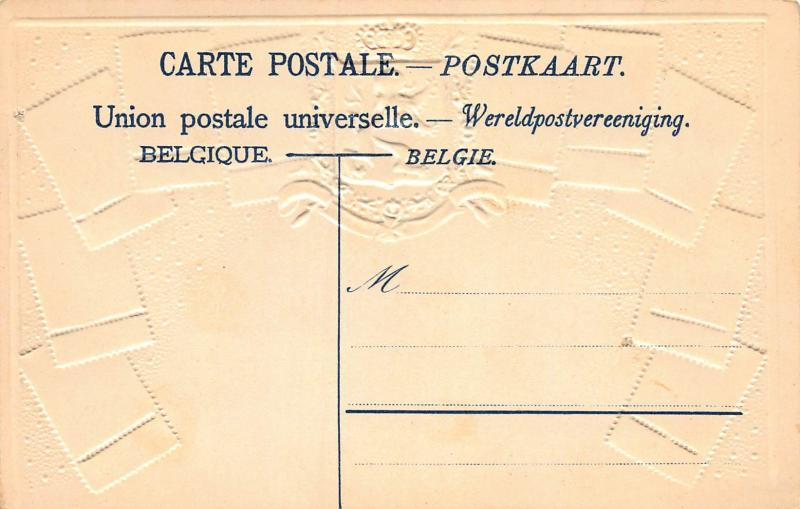 Belgium, Stamp Postcard, #54, Published by Ottmar Zieher, Circa 1905-10, Unused