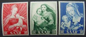 Germany, Saar, Scott 250-252, MNH Set