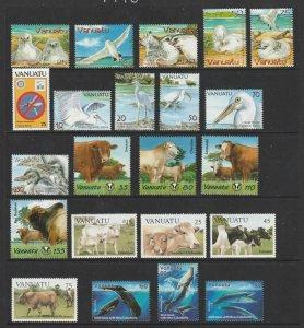 Vanuatu x 5 sets & 1 mini sheet all MNH