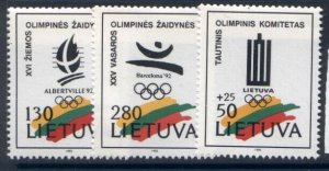 Lithuania 422-4 MNH Lithuania Olympic Committee, Sports