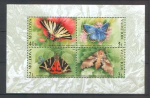 Moldova 2003 Butterflies Minisheet 4 MNH stamps