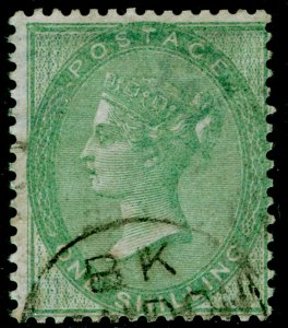 SG72, 1s green, FINE USED. Cat £350.