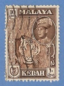 Malaya Kedah 100 Used Pencil Mark - Tiger, Sultan Halim