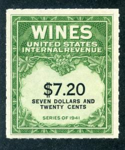 Scott RE160 - $7.20 - 1942 Wines - MNH - No Gum As Issued
