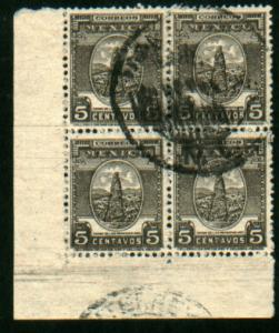 MEXICO 787, 5c 1934 Definitive Issue Block of 4 Used (167)