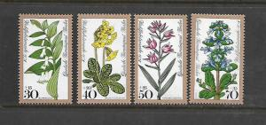 BERLIN, 9NB148-9NB151, MNH, FLOWER TYPE OF 1977