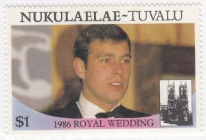 Nukulaelae - Tuvelu, Sc 626, MNH, 1986, Royal Wedding
