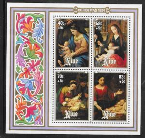 Niue #461 Christmas 1984 Souvenier Sheet (MNH) CV $3.25