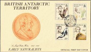 British Antarctic Territory Scott 125-128 Unaddressed.