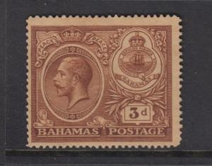 Bahamas -Scott 68 - Definitive - KGV -1920 - MH - Single 3p Stamp