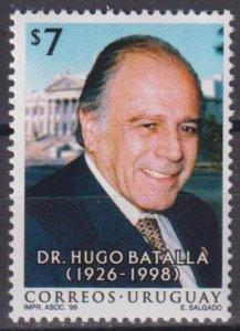 Uruguay 1999 The 1st Anniversary of the Death of Hugo Batalla  (MNH)  - Politici