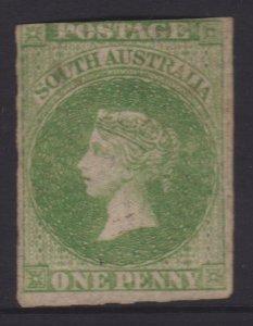 South Australia Sc#14b Bright Yellow Green Mint - Partial Gum