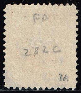 US STAMP #282C – 1898 10c Webster, brown, type I USED XFS SUPERB