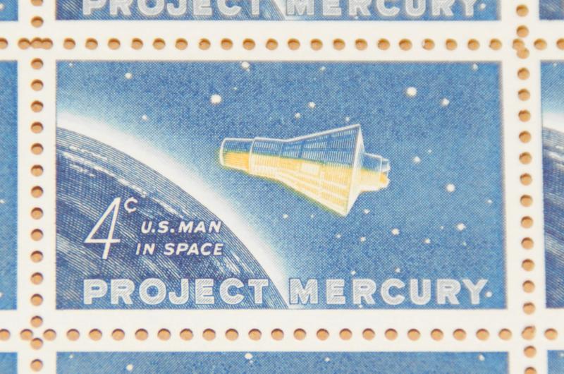 US #1193 4¢ Project Mercury Friendship 7 Capsule Sheet of 50 MNH
