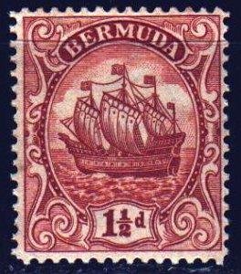 Bermuda. 1934. 72 of the series. Sailboat. MNH.