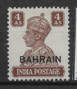 BAHRAIN SG47 1942-5 4a BROWN MTD MINT