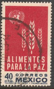 MEXICO 934, Freedom from Hunger Campaign. USED VF. (1093)