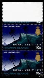 Pitcairn Islands 118 Pair Top MNH Queen Elizabeth II, Royal Visit, Ship Landing