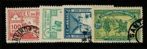 Brazil SC# 162 - 166 Used / #166 Small Shallow Thin - S7114