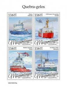 MOZAMBIQUE - 2019 - Icebreakers - Perf 4v Sheet - MNH