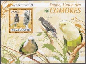 2009 Comoro Islands 2424/B521 Parrots 15,00 €