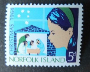 Norfolk Island 1964 christmas religion nativity children MNH