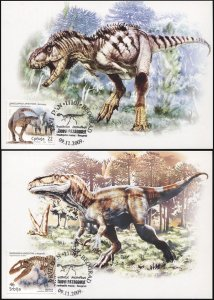 Serbia. 2009. Dinosaurs of Argentina (Mint) Set of 2 Maxi Cards