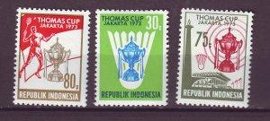 J25036 JLstamps 1973 indonesia set mnh #837-9 sports