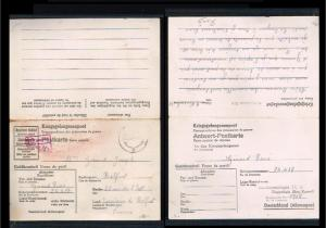 1945 - Allied Occupation Card - Kriegsgefangenenpost to Belfort (FR) [B03_050]