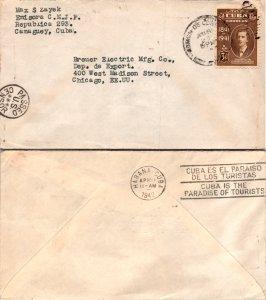 1942 Cuba to United States + US Censorship Cancel ( Postal History ), 1942