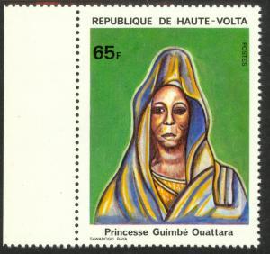 BURKINA FASO / UPPER VOLTA 1980 65fr Princess Guimbe Quattara Sc 543 MNH