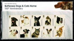 G.B. QE II 2010 BATTERSEA DOGS & CATS HOME PRESENTATION PACK P.O. No. 438 SUPERB
