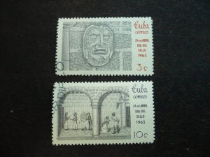 Stamps - Cuba - Scott# 785-786 - Used Set of 2 Stamps