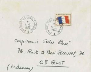 France Franchise Militaire Flag Military Stamp 1972 29 N-Brest-Ile-Longue-Mar...