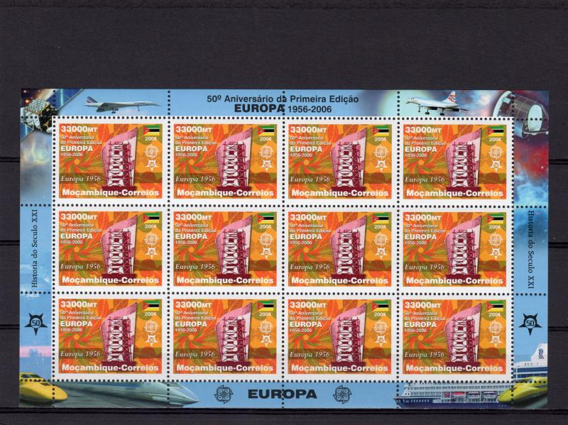 Mozambique 2006 Mi#2861A EUROPA CEPT Mini-Sheetlet of 12 Perforated MNH