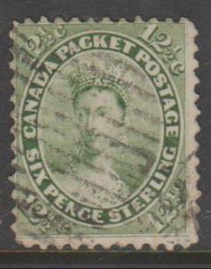 Canada Scott #18 Stamp - Cat $120 - Used Single