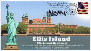 17-279, 2017,Ellis Island, Jersey City NJ, Event Cover, Pictorial Cancel,