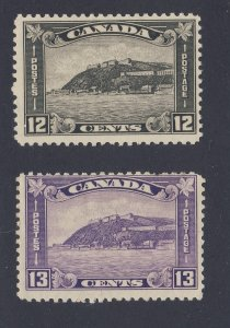 2x Canada Quebec Citadel Stamps #174-12c MNH F/VF #201-13c MH F  Guide = $74.00