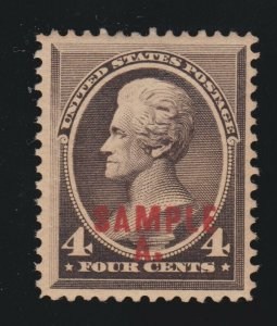US 211SL 4c Jackson Trial Color Sample A. Specimen VF OG H SCV $75