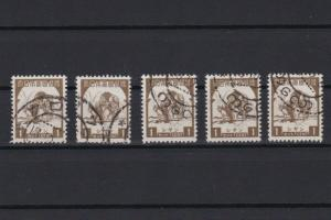 burma 1943 japanese occupation used 1 cent brown stamps ref r12640