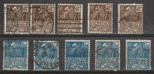 #259,261 France Used lots of 5