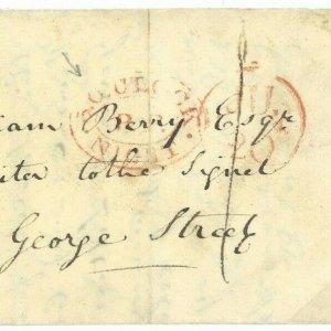 GB SCOTLAND Cover Edinburgh EARLY 1804 Timed Late Mail *5 O'CLOCK NIGHT*  91.4